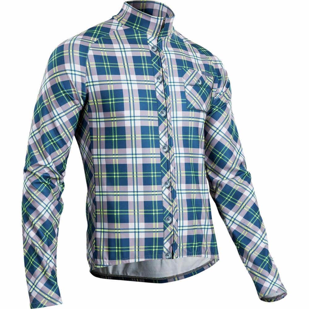 スゴイ SUGOi メンズ サイクリング ウェア【Evolution Jersey - Long - Sleeves】Blatic Blue/ Super Nova