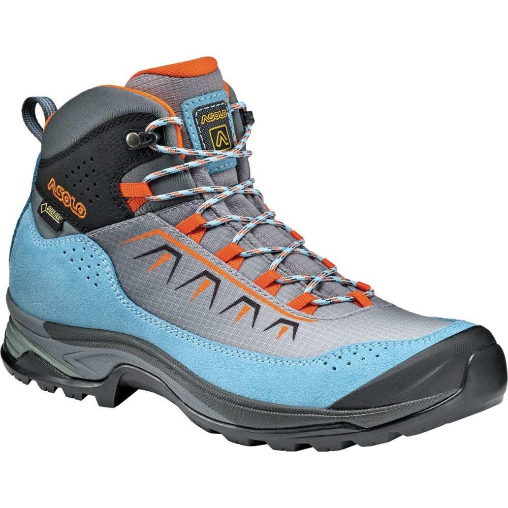 アゾロ Asolo レディース ハイキング シューズ・靴【Soul GV Hiking Boot】Azure/Silver/Orange