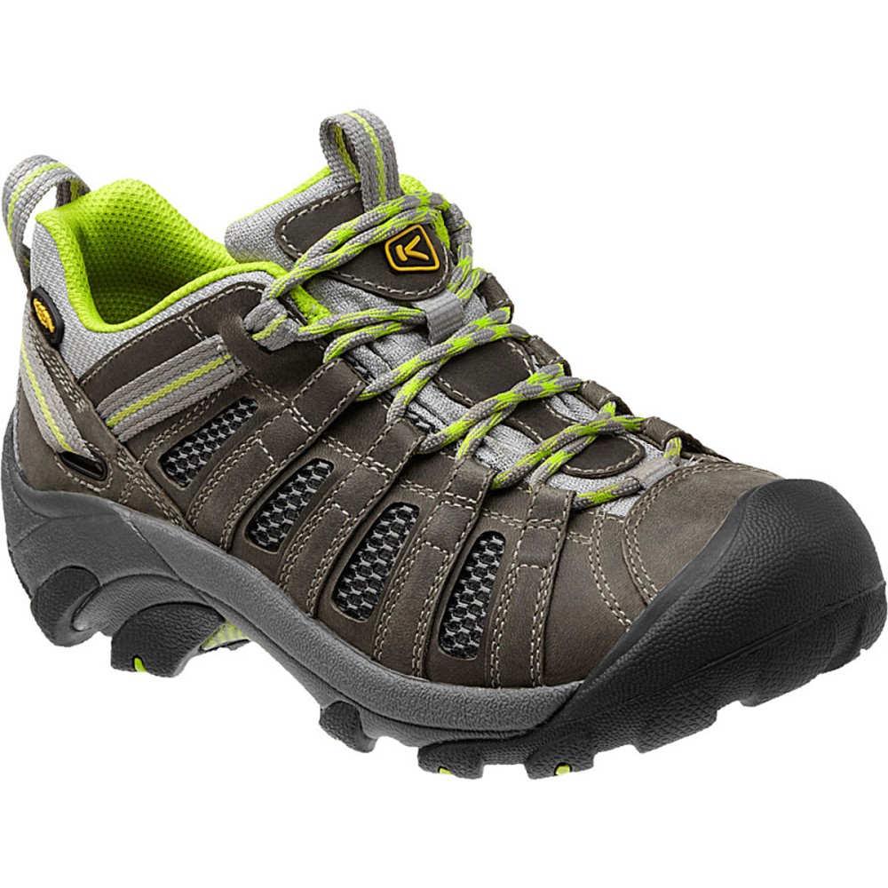 キーン KEEN レディース ハイキング シューズ・靴【Voyageur Hiking Shoe】Neutral Gray/Lime Green