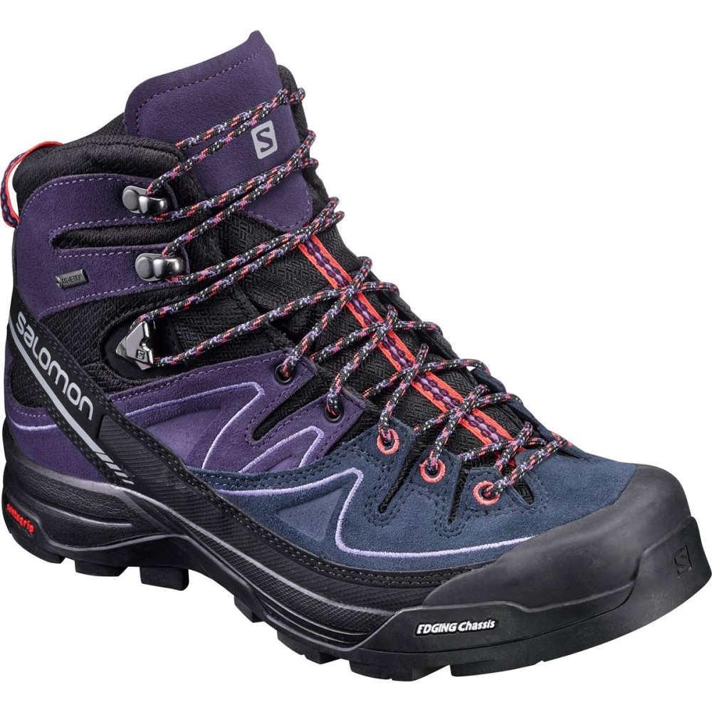 サロモン Salomon レディース ハイキング シューズ・靴【X Alp Mid LTR GTX Boot】Black/Nightshade Grey/Coral Punch