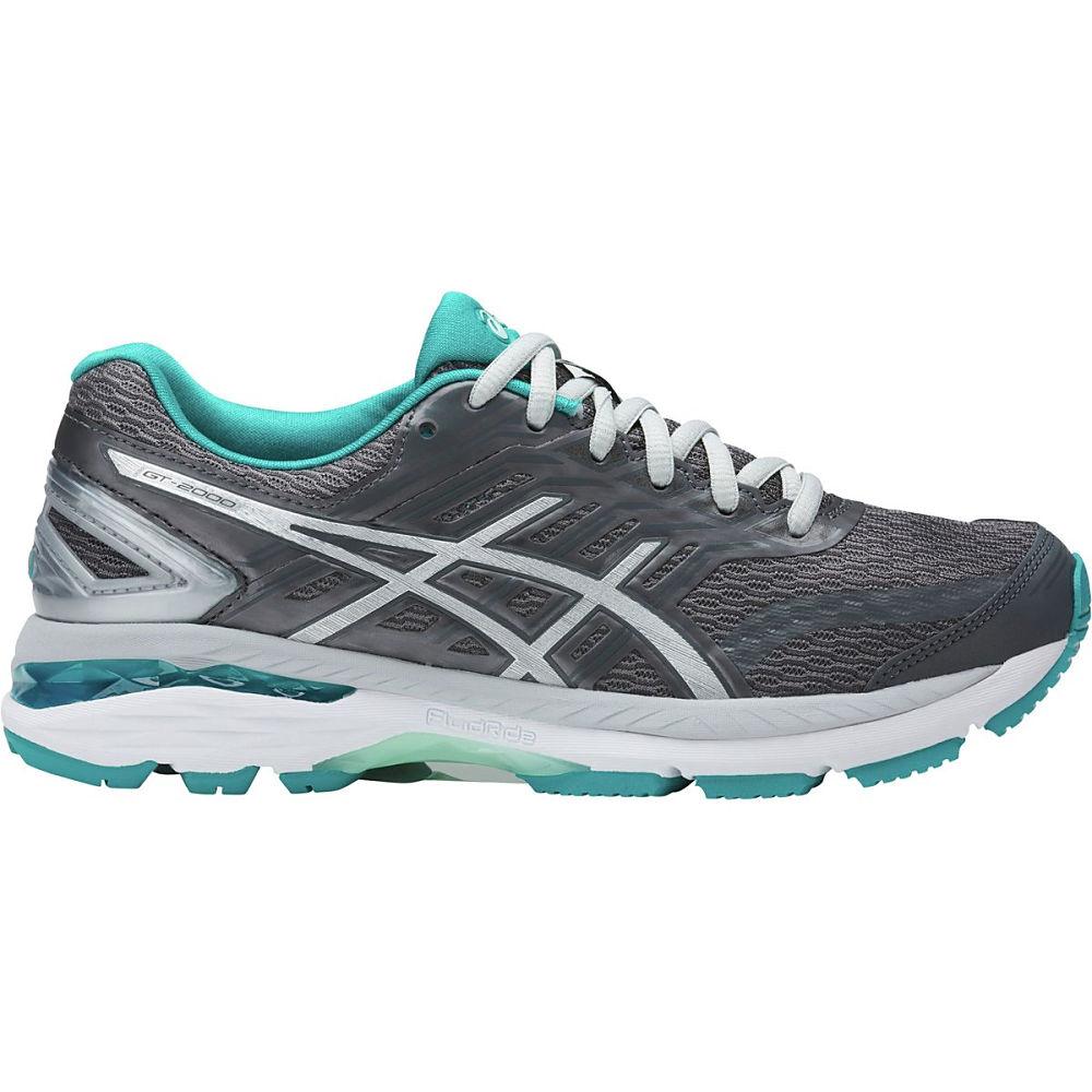 アシックス レディース ランニング・ウォーキング シューズ・靴【GT - 2000 5 Running Shoe】Carbon/Silver/Arctic Aqua
