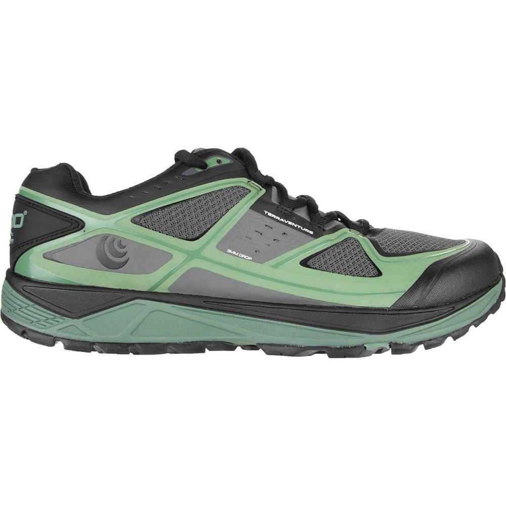 トポ アスレチック メンズ ランニング・ウォーキング シューズ・靴【Terraventure Trail Running Shoes】Charcoal/Green