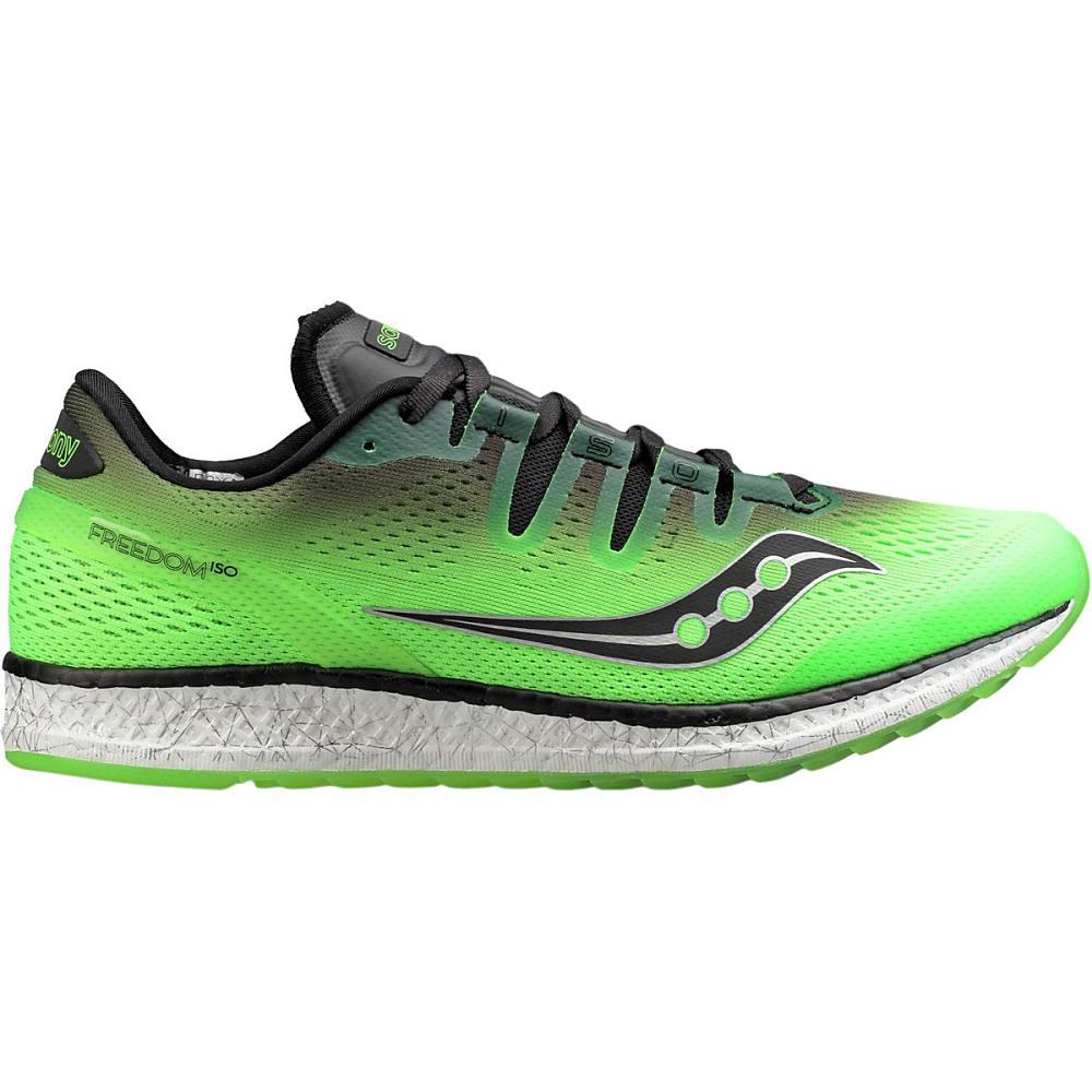 サッカニー メンズ ランニング・ウォーキング シューズ・靴【Freedom ISO Running Shoes】Slime/Black