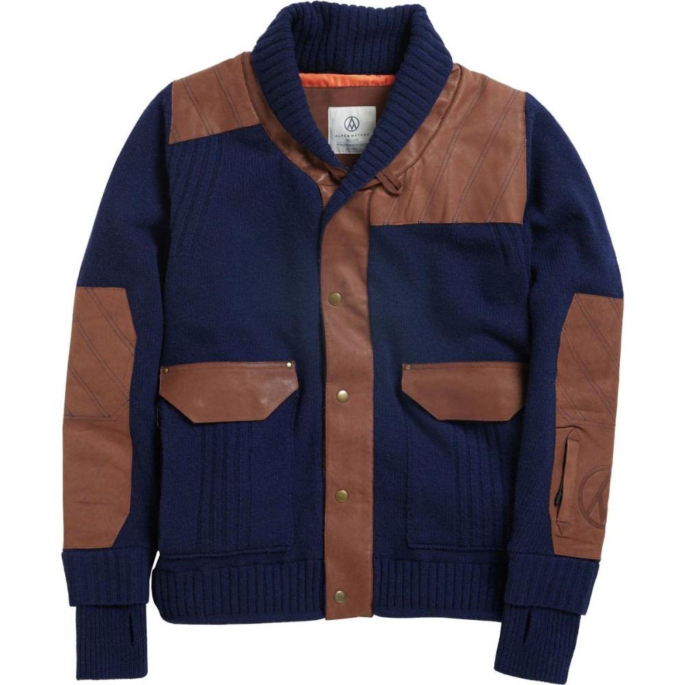 アルプス&メーターズ メンズ スキー・スノーボード アウター【Shawl Collar Jackets】Navy