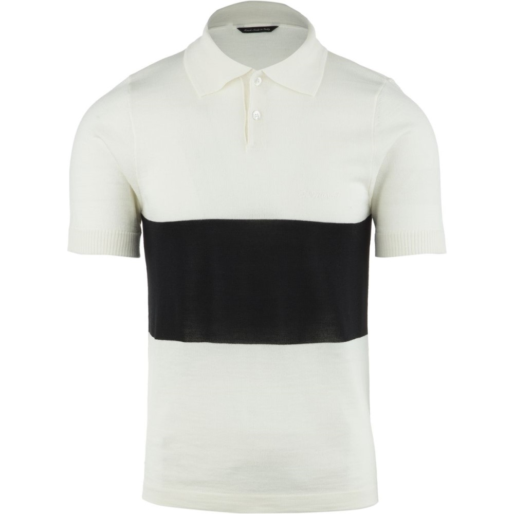 デマルキ メンズ 自転車 トップス【Polo Storicas】White
