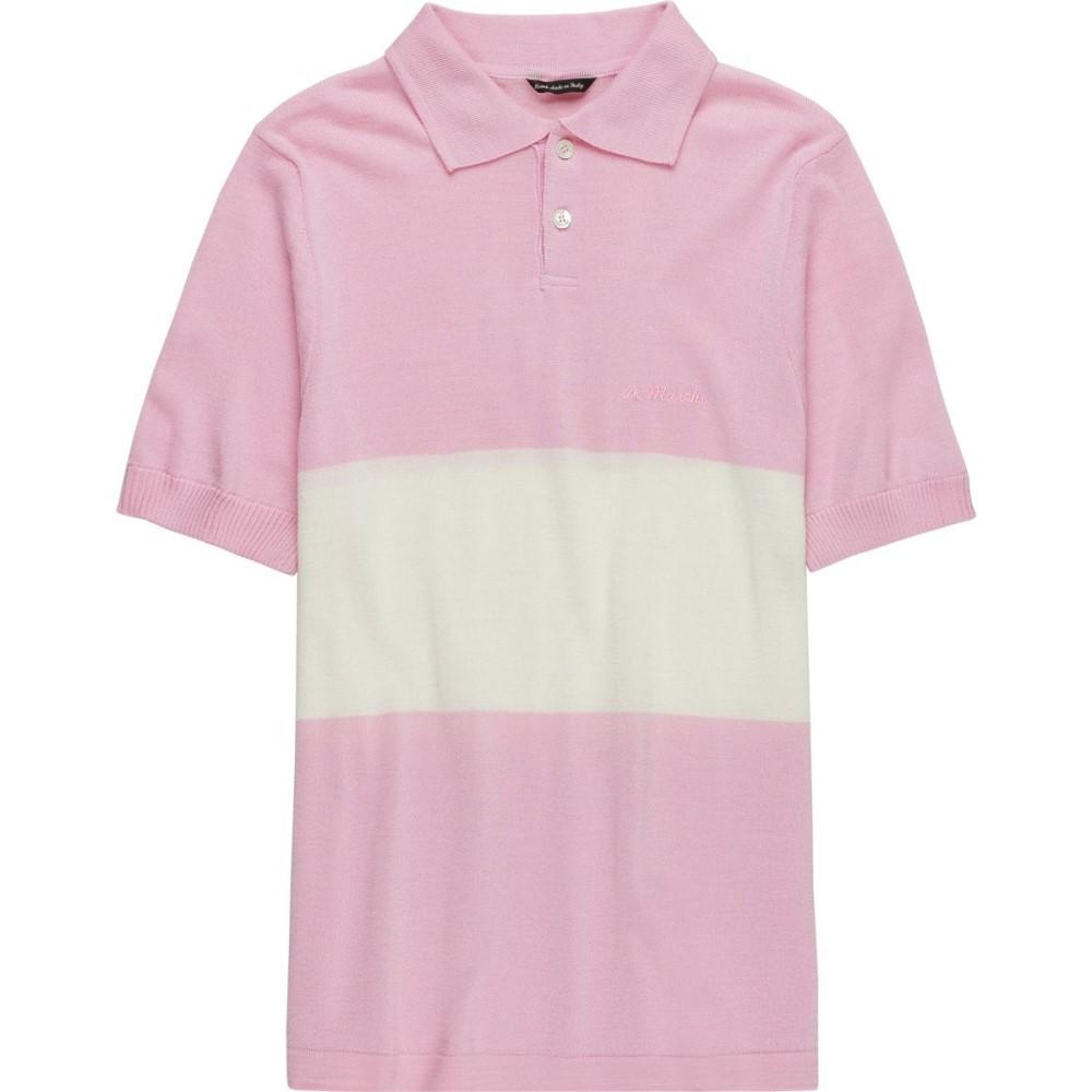 デマルキ メンズ 自転車 トップス【Polo Storicas】Pink