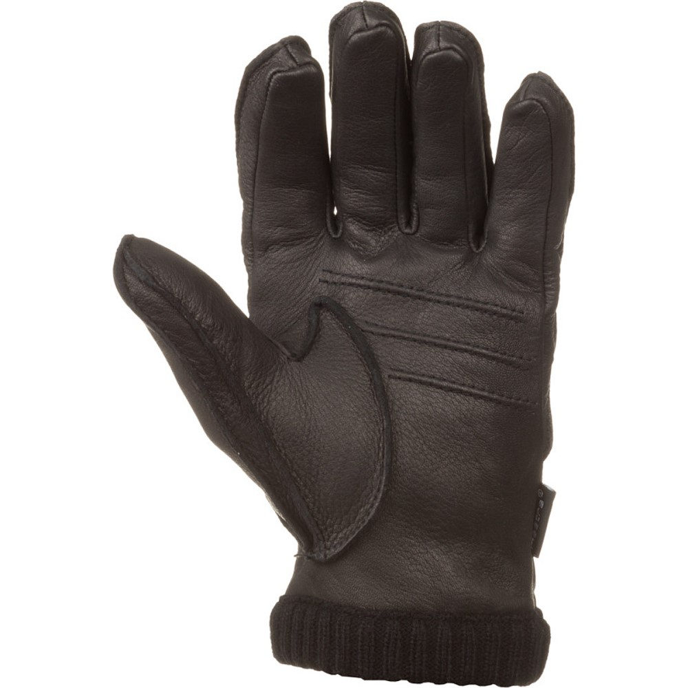 ヘスタ メンズ 手袋・グローブ【Deerskin Primaloft Ribbed Gloves】Black