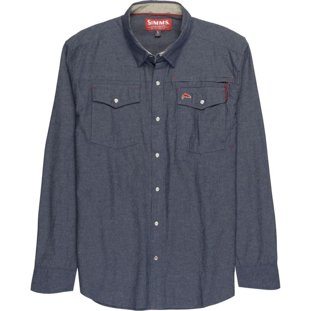 シムズ メンズ 釣り・フィッシング トップス【Stillwater Chambray Long - Sleeve Shirts】Indigo
