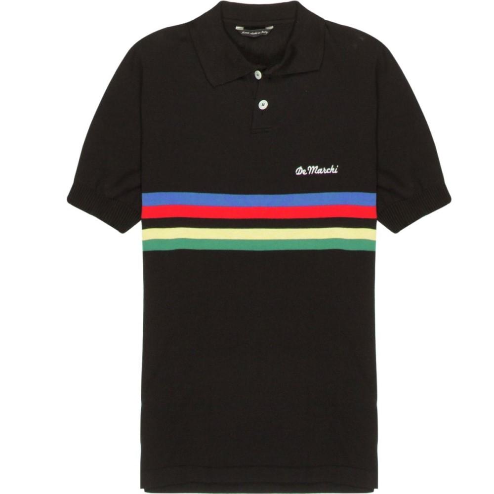 デマルキ メンズ 自転車 トップス【Campione Polos】Black/Nero