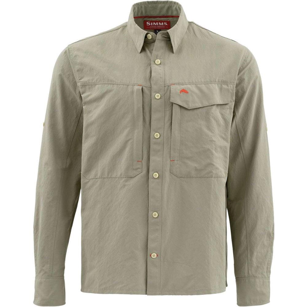 シムズ メンズ 釣り・フィッシング トップス【Guide Long - Sleeve Shirts】Dark Khaki