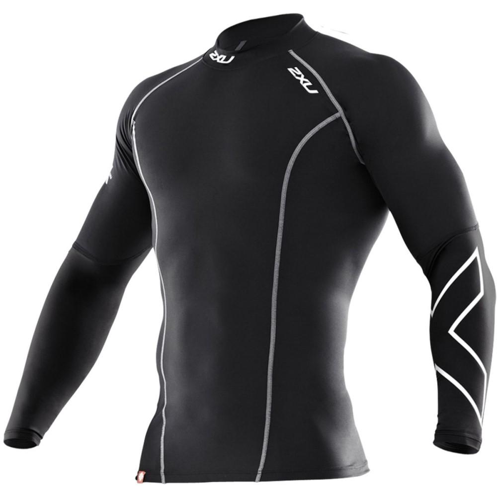 ツータイムズユー メンズ 自転車 トップス【Thermal Compression Top - Long - Sleeves】Black/Black