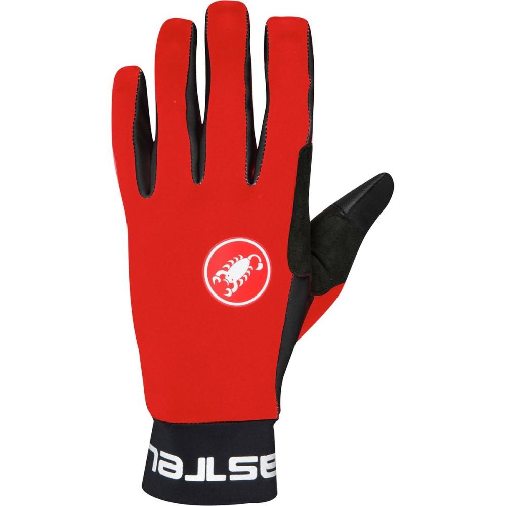 カステリ メンズ 自転車 グローブ【Scalda Glove】Red/Black