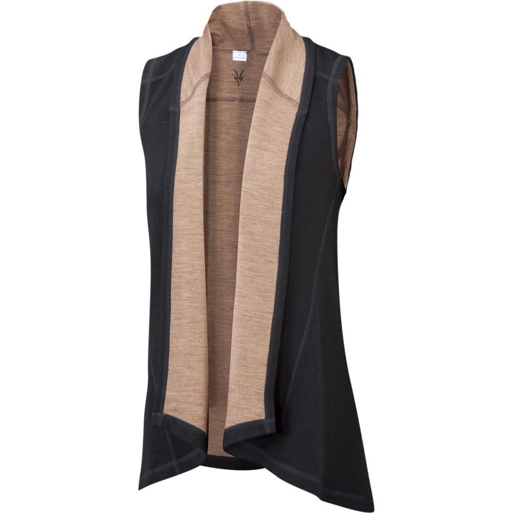 アイベックス レディース トップス ベスト・ジレ【Dyad Shawl Vest】Black/Camel