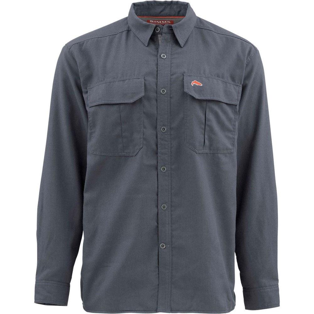 シムズ メンズ 釣り・フィッシング トップス【Cold Weather Shirts】Oxford Blue