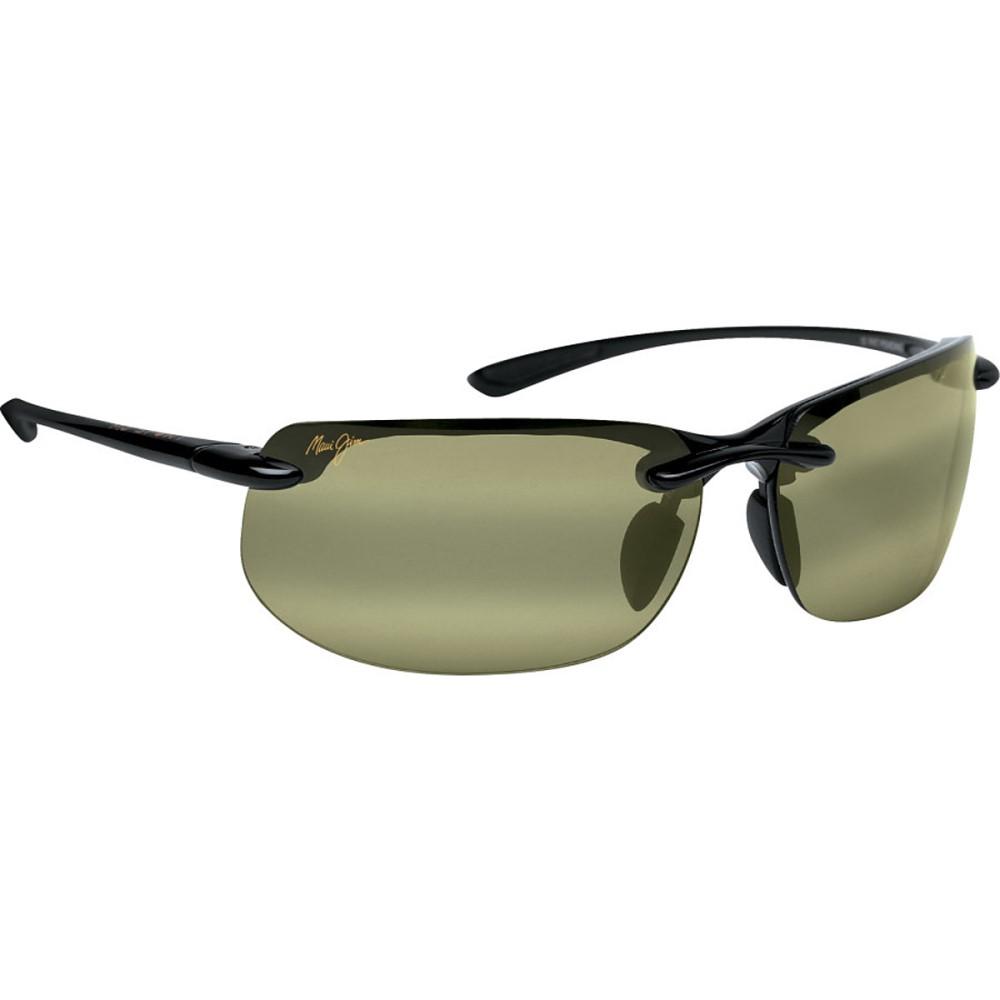 マウイジム レディース スポーツサングラス【Banyans Sunglasses - Polarized】Gloss Black/Hi Transmission