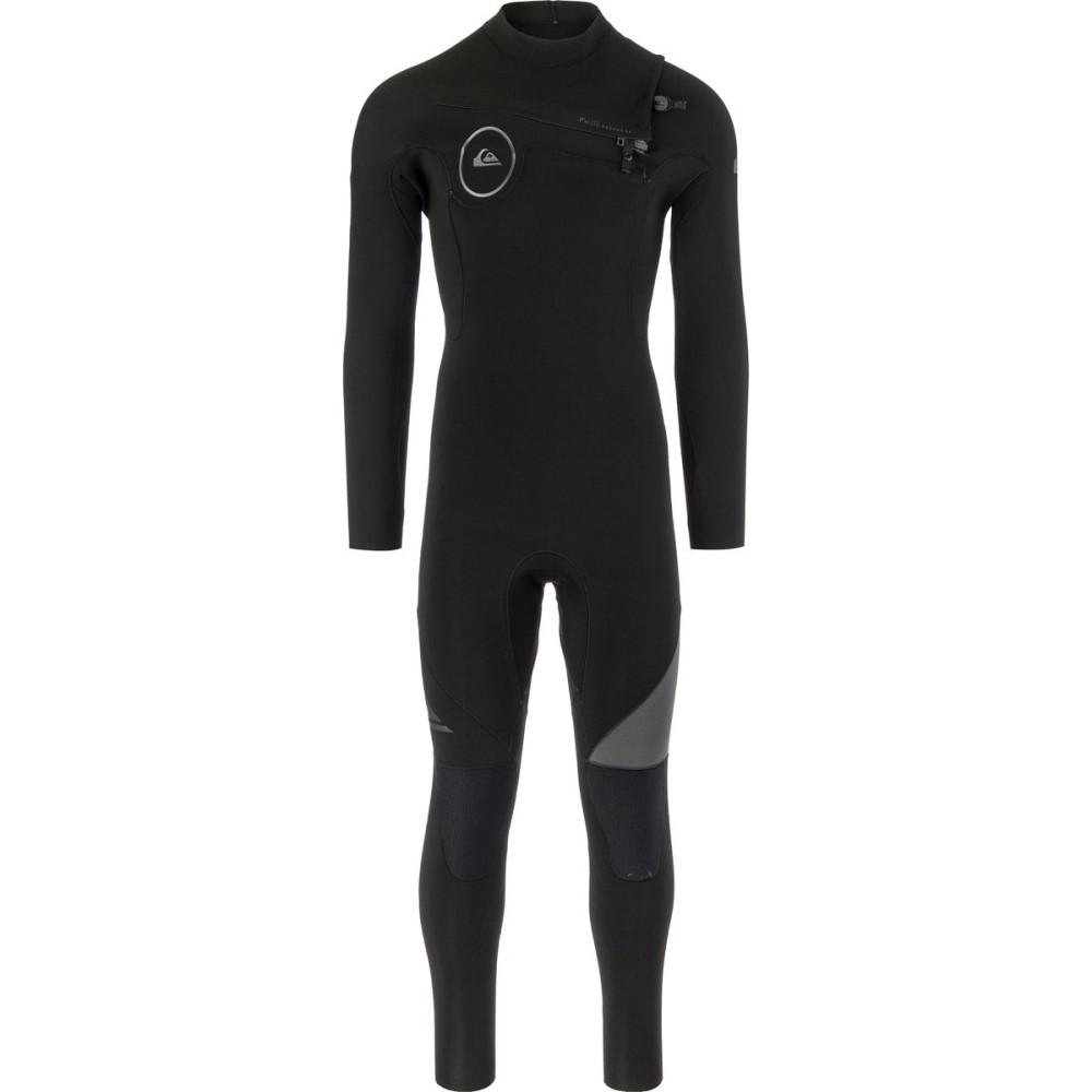 クイックシルバー メンズ 水着・ビーチウェア ウェットスーツ【3/2 Syncro Chest Zip GBS Wetsuits】Black/ Black/ Jet Black