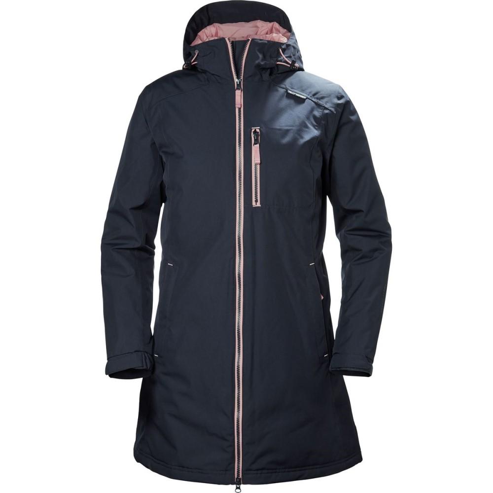 ヘリーハンセン レディース アウター レインコート【Long Belfast Winter Insulated Jacket】Graphite Blue