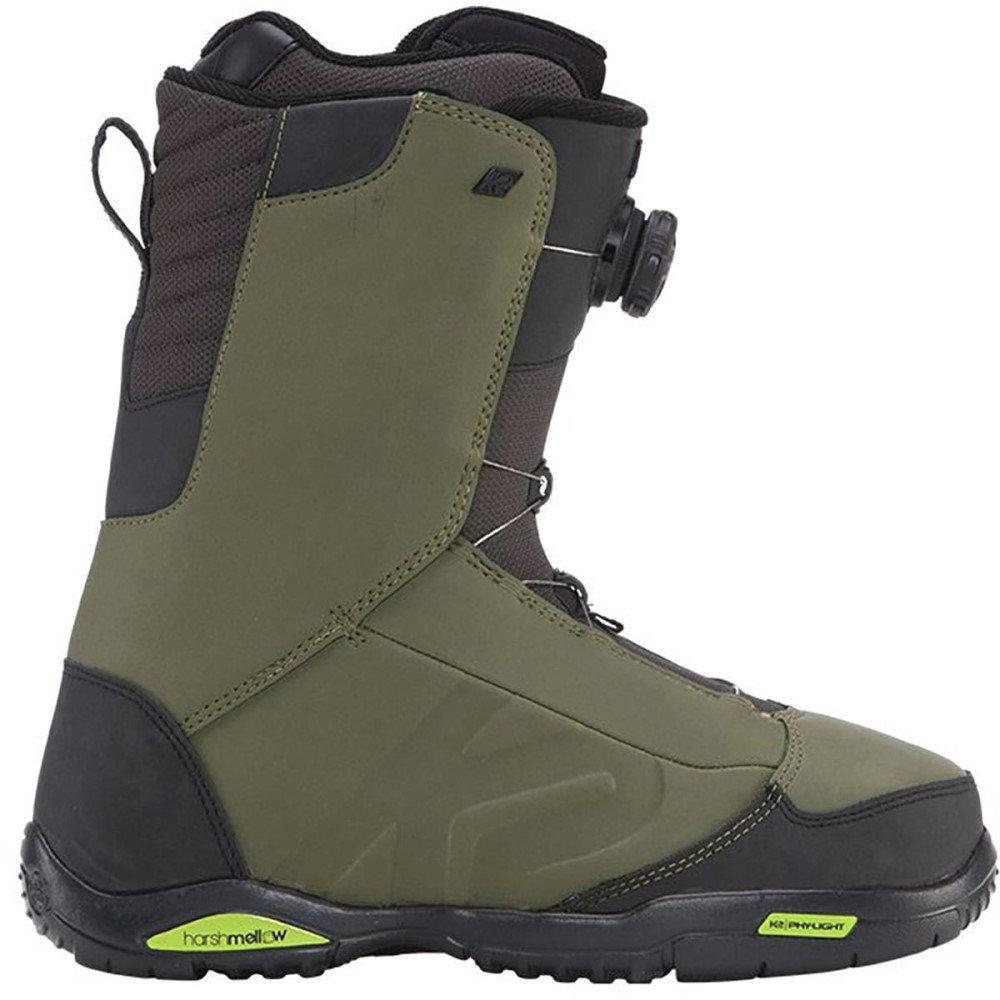 ケーツー メンズ スキー・スノーボード シューズ・靴【Ryker Boa Snowboard Boots】Olive
