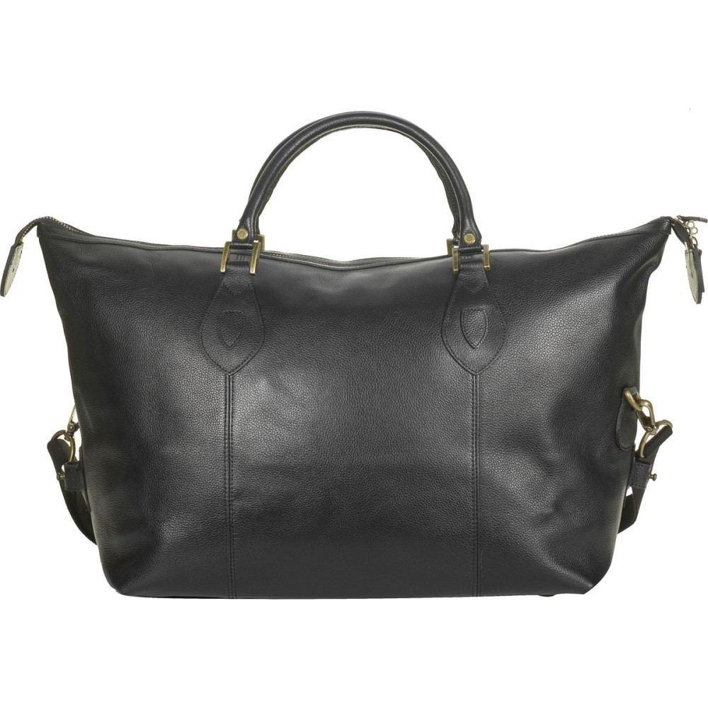 バーブァー レディース バッグ ボストンバッグ・ダッフルバッグ【Leather Med Travel Explorer Bag】Black