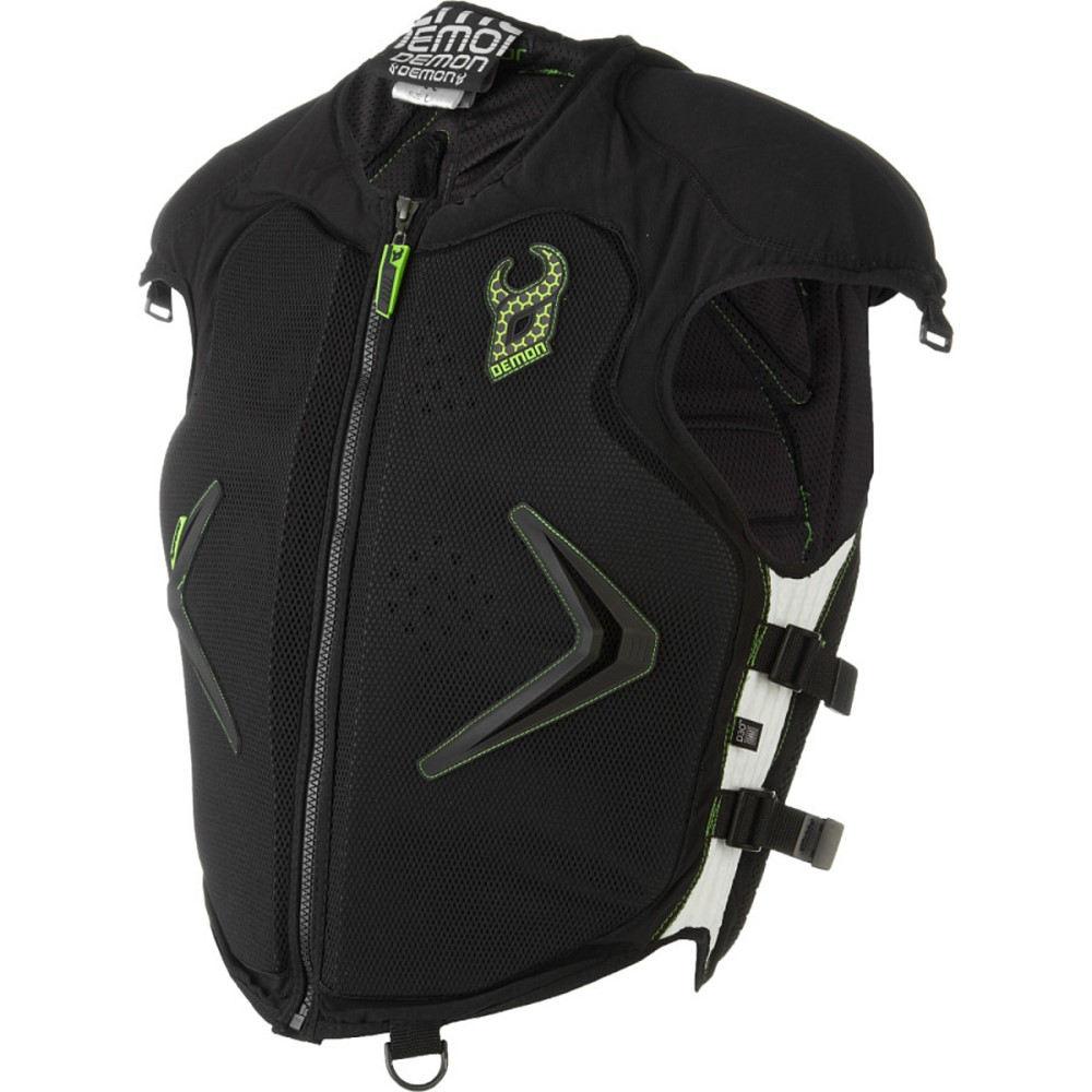 デーモン ユナイテッド メンズ スキー・スノーボード プロテクター【Hyper X Vest D30 Body Armors】Black/Green