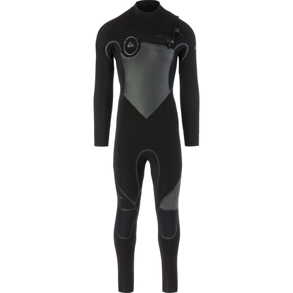 クイックシルバー メンズ 水着・ビーチウェア ウェットスーツ【4/3 Syncro Plus Chest Zip LFS Wetsuits】Black/ Black/ Jet Black