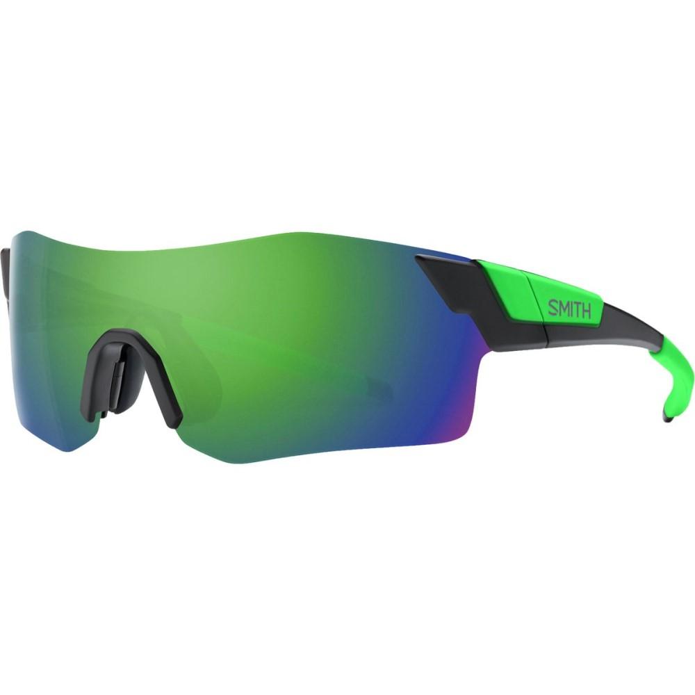 スミス レディース スポーツサングラス【Pivlock Arena ChromaPop Sunglasses】Matte Black Reactor/Green