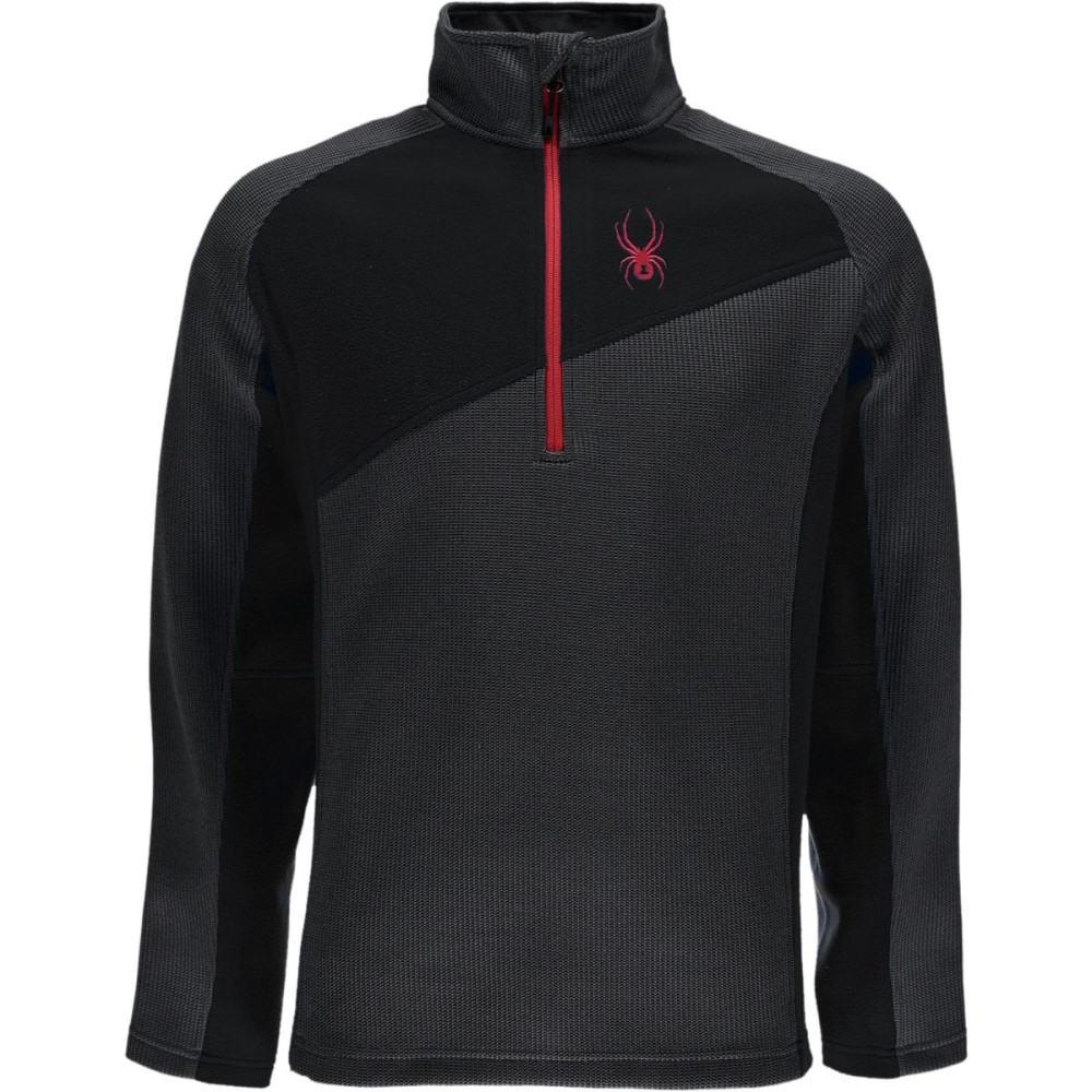 スパイダー メンズ トップス フリース【Verger Lightweight Fleece Jackets】Polar/Black/Red