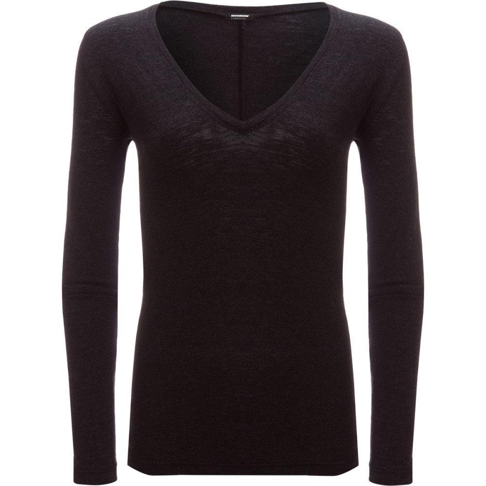 モンロー レディース トップス ブラウス・シャツ【Granite Long - Sleeve V - Neck Shirt】Black