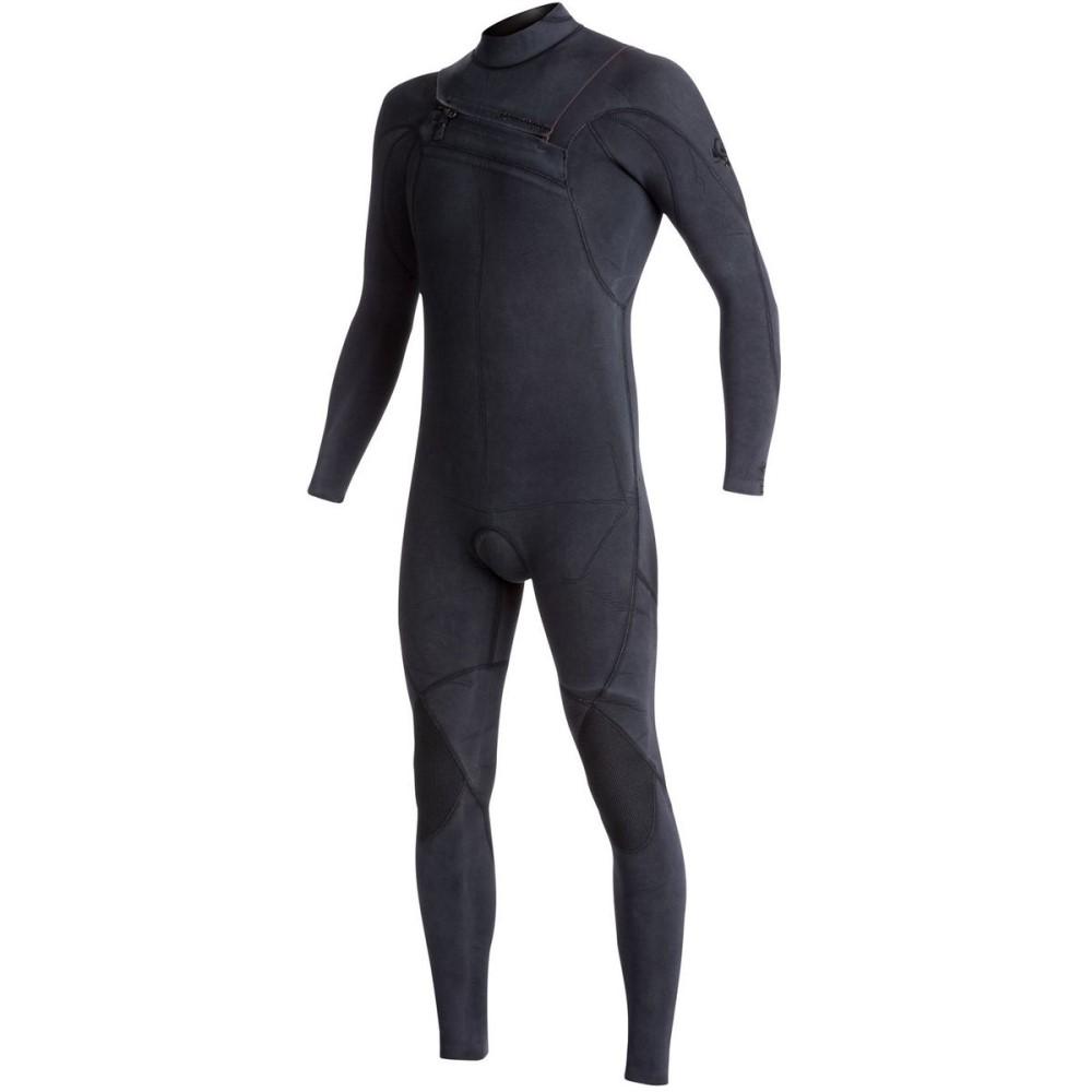 クイックシルバー メンズ 水着・ビーチウェア ウェットスーツ【3/2 Monochrome Azip GBS Chest - Zip Steamer Wetsuits】Black