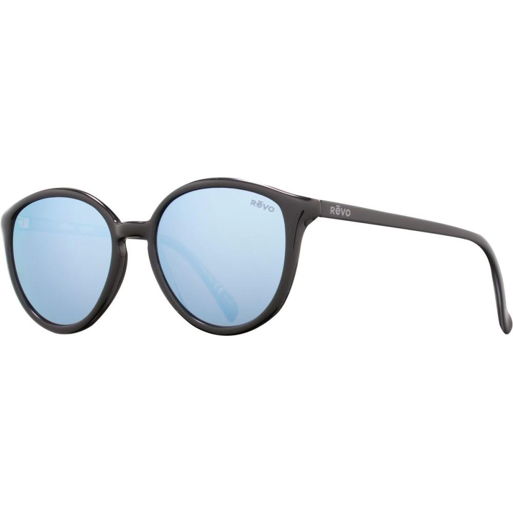 レヴォ レディース メガネ・サングラス【Greison Sunglasses - Polarized】Shiny Black/Blue Water