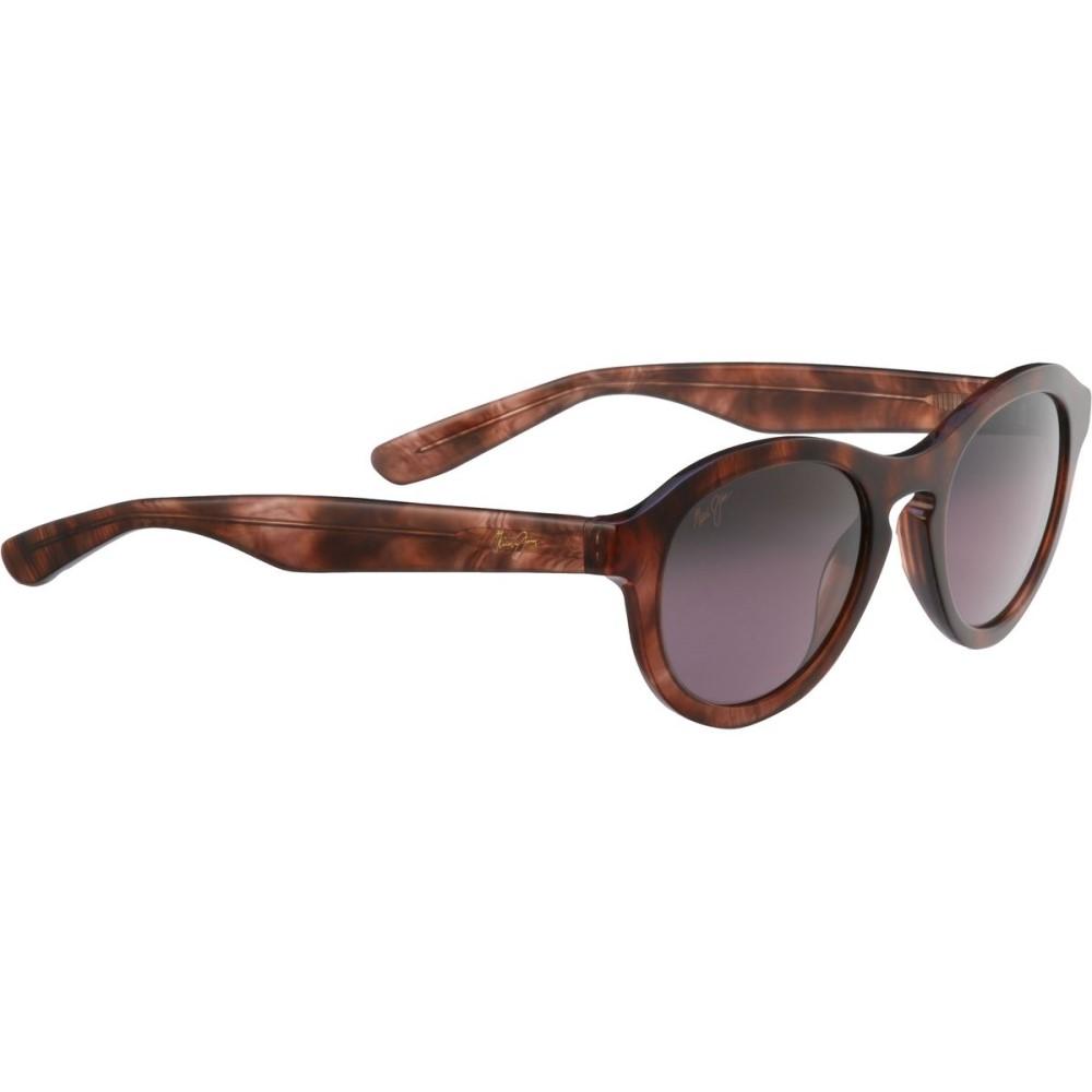 マウイジム レディース スポーツサングラス【Leia Sunglasses - Polarized】Brown Feathered/Maui Rose