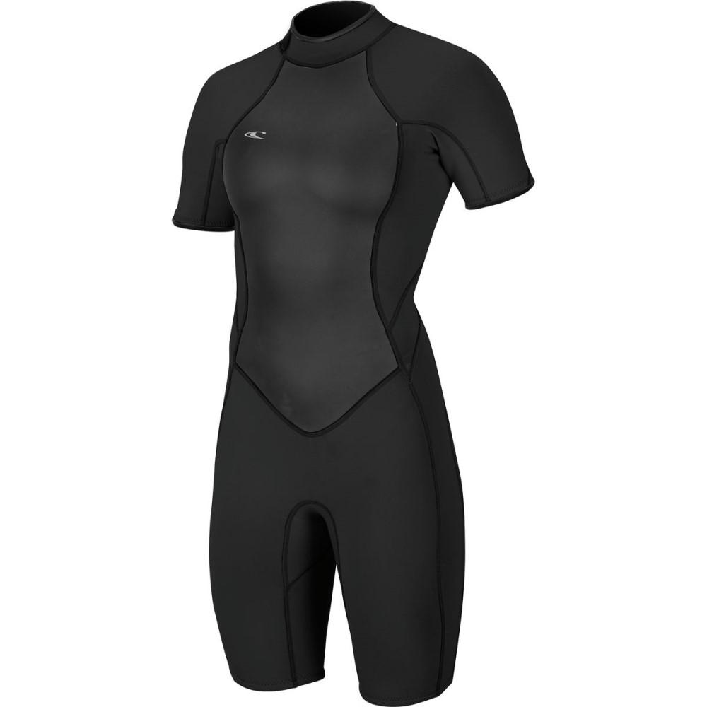 オニール レディース 水着・ビーチウェア ウェットスーツ【Bahia Short - Sleeve Spring Wetsuit】Black/Black/Black
