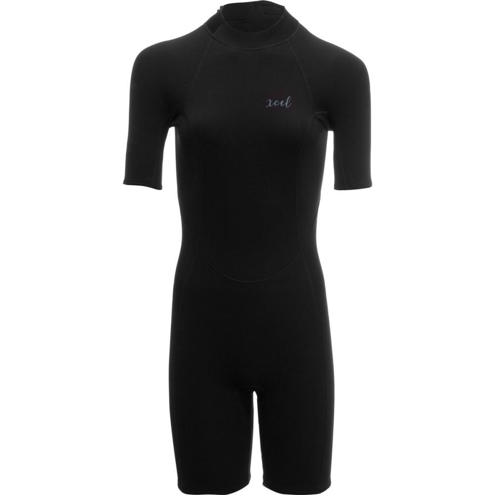 エクセルハワイ レディース 水着・ビーチウェア ウェットスーツ【2mm Doreen Back - Zip Springsuit】Black