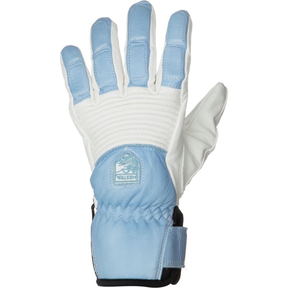ヘスタ レディース 手袋・グローブ【Leather Fall Line Glove】Off White/Light Blue