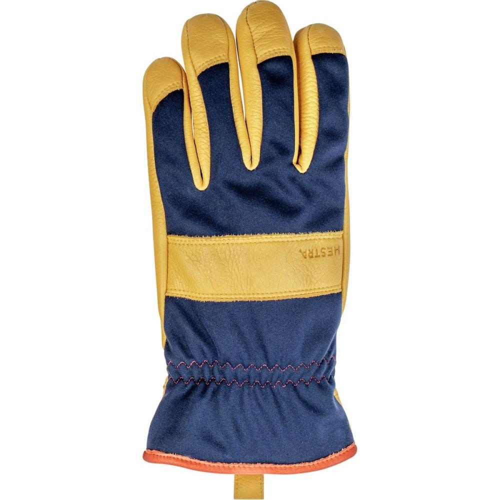 ヘスタ メンズ 手袋・グローブ【Tor Glove】Navy/Natural Yellow