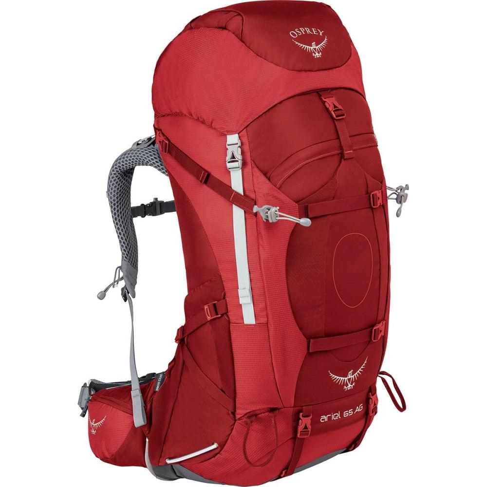 オスプレー レディース バッグ バックパック・リュック【Ariel AG 65L Backpack】Picante Red