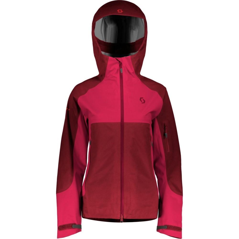スコット レディース スキー・スノーボード アウター【Explorair 3L Hooded Jacket】Mahogany Red/Ruby Red
