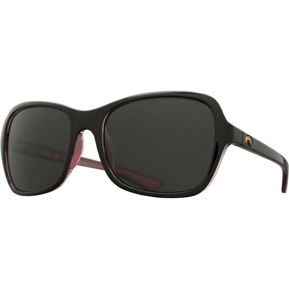 コスタ レディース スポーツサングラス【Kare 580G Polarized Sunglasses】Shiny Black Hibiscus Gray 580g