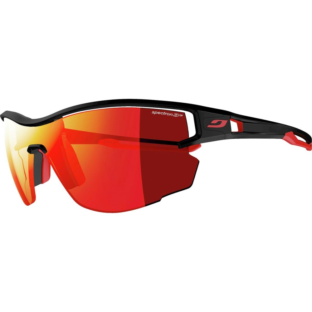 ジュルボ メンズ スポーツサングラス【Aero Spectron 3 CF Sunglasses】Black-Red/Spectron 3 CF