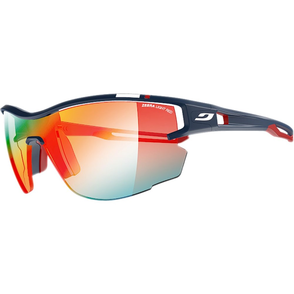 ジュルボ レディース スポーツサングラス【Aero Zebra Sunglasses】Blue/Red/Zebra Light/Clear