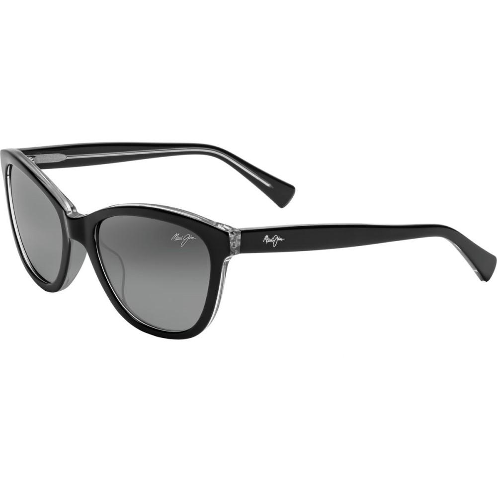 マウイジム レディース スポーツサングラス【Canna Sunglasses - Polarized】Black With Crystal/Neutral Grey