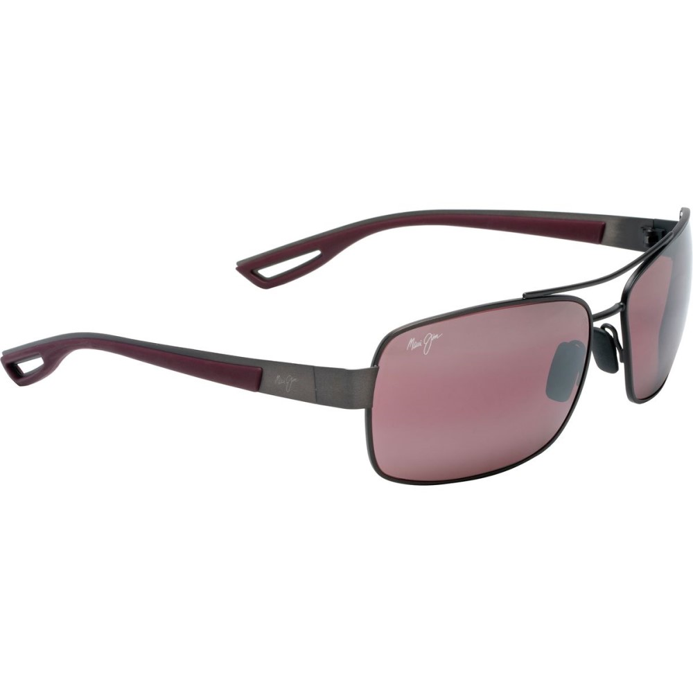 マウイジム メンズ メガネ・サングラス【Ola Sunglasses - Polarized】Brushed Black Gold With Burgundy Rubber/Maui Rose