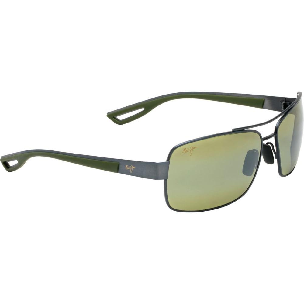 マウイジム メンズ メガネ・サングラス【Ola Sunglasses - Polarized】Brushed Gunmetal With Khaki Green Rubber/Maui Ht