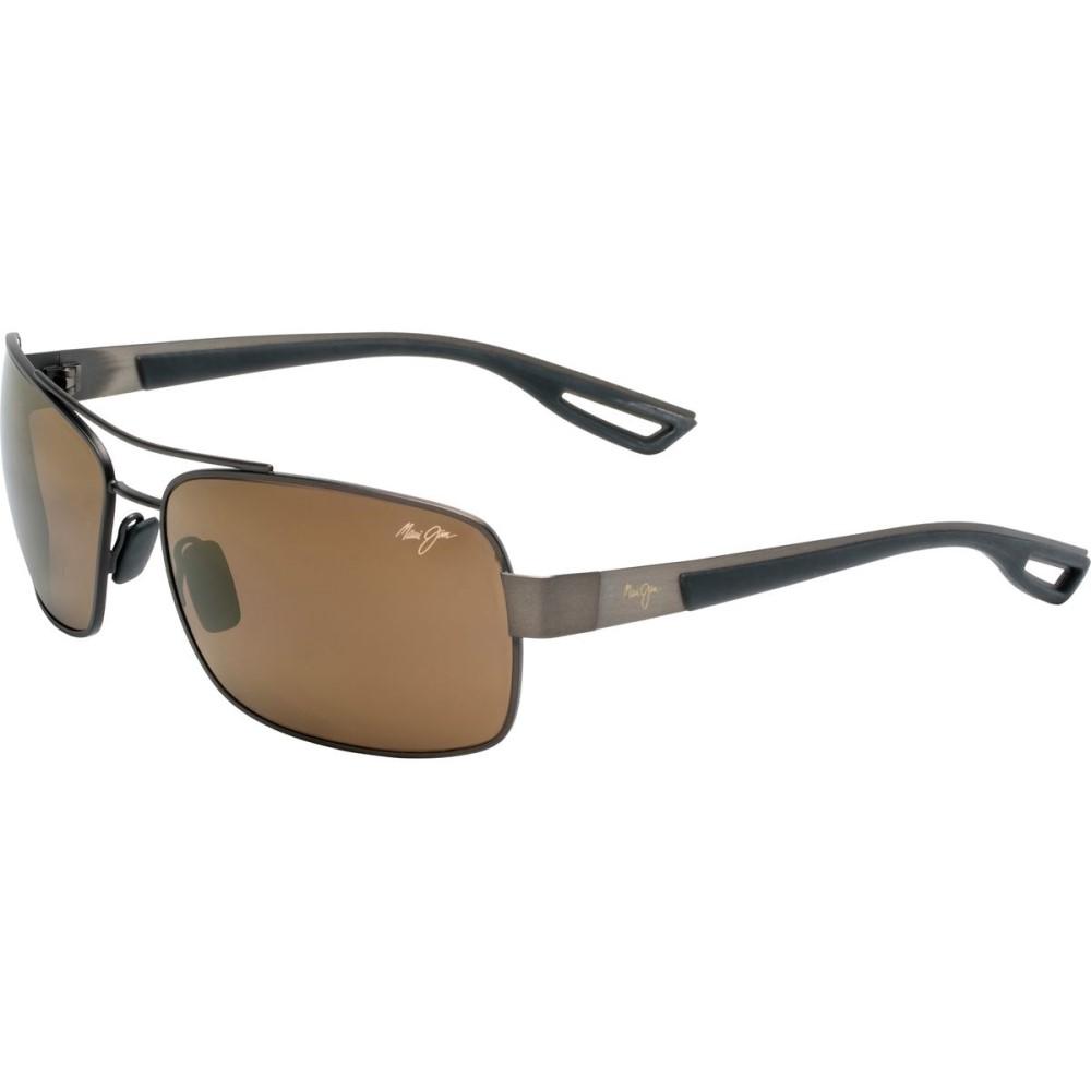 マウイジム メンズ メガネ・サングラス【Ola Sunglasses - Polarized】Brushed Matte Brown With Dark Translucent Brown Rubber/Hcl Bronze