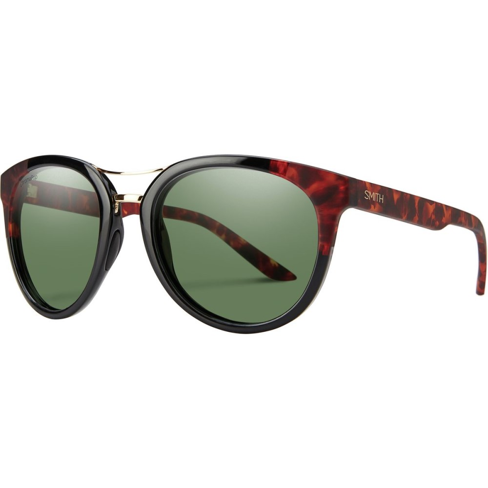 スミス レディース スポーツサングラス【Bridgetown ChromaPop Sunglasses - Polarized】Black Havana Block/Polarized Gray Green
