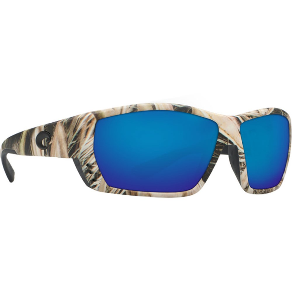 コスタ レディース スポーツサングラス【Tuna Alley Mossy Oak Camo 580G Sunglasses - Polarized】Mossy Oak Shadow Grass Blades Camo/Blue Mirror