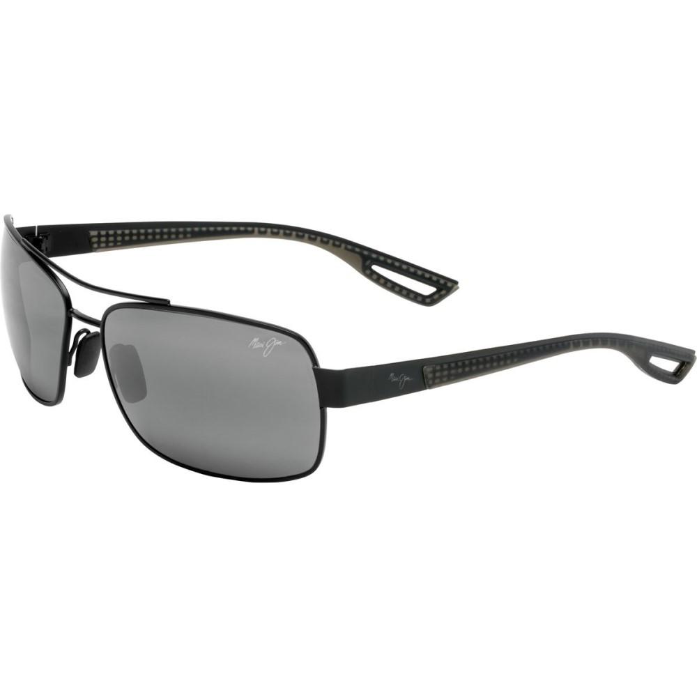 マウイジム メンズ メガネ・サングラス【Ola Sunglasses - Polarized】Matte Black With Dark Translucent Grey Rubber/Neutral Grey