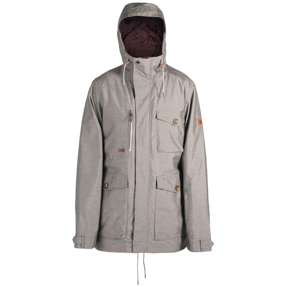 ライド メンズ スキー・スノーボード アウター【Montlake Hooded Fishtail Jackets】Grey Nep