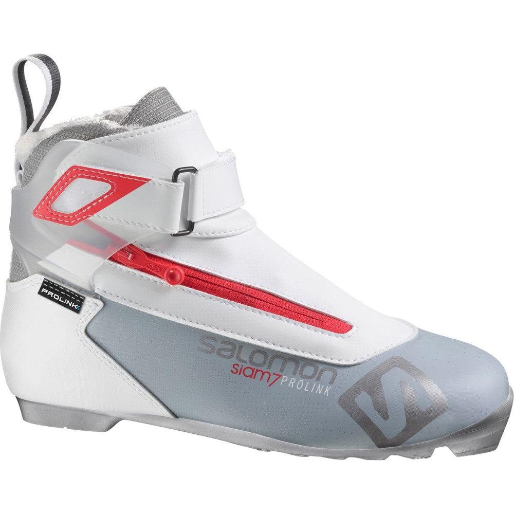 サロモン レディース スキー・スノーボード シューズ・靴【Prolink Siam 7 Light Boot】Grey/Red