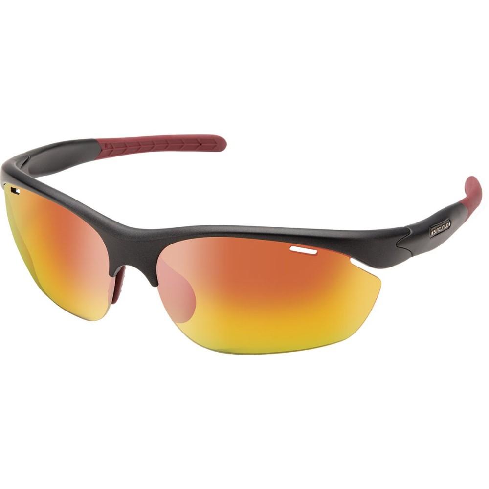 サンクラウド レディース スポーツサングラス【Portal Sunglasses - Polarized】Matte Graphite/Red Mirror Polycarbonate/Contrast